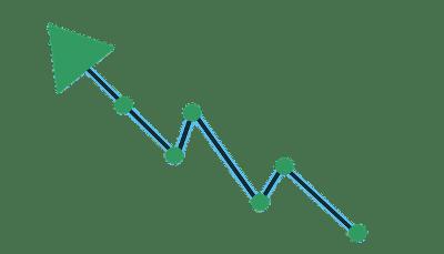 Steigungspfeil gespiegelt